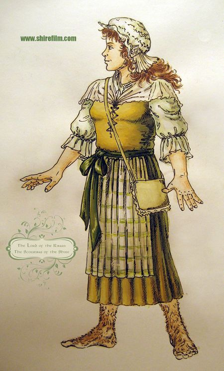 A Hobbit woman. Concept-art by Christina Goupil.