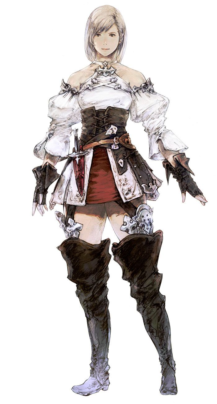 Hyur Female in Initial Gear - Characters & Art - Final Fantasy XIV: A Realm Reborn
