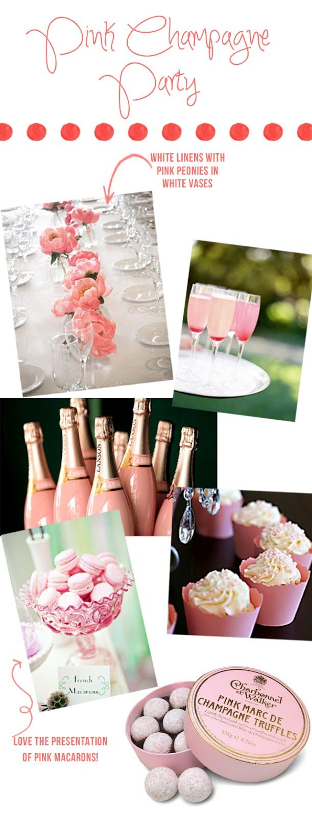 Bridal Shower Idea, Love it! - Pink Champagne Party.  My obsession with Pink Champagne is stupid ridiculous!