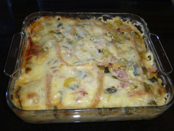 Gratin Pommes de terre / poireaux et lardons - 1, 2, 3, 4 filles aux fourneaux