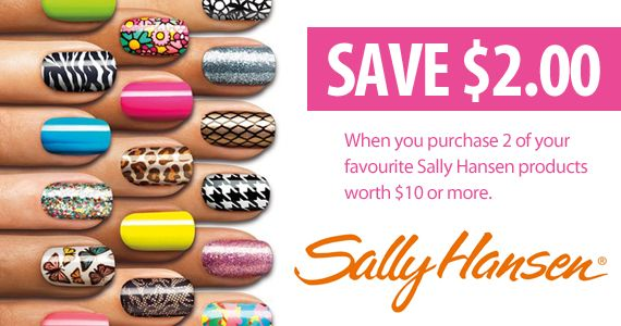 Save $2 When You Purchase 2 Sally Hansen Products