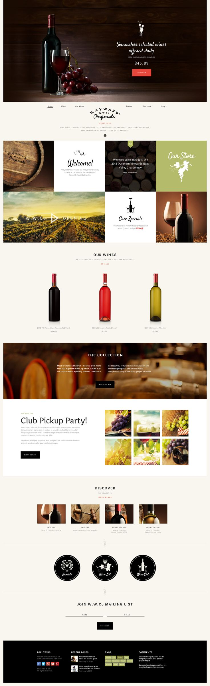 Wine House is a WordPress theme ideal for winery websites, online wine shops or wine restaurants. If you seek to build a website related to agritourism, Wine House will perfectly fits for it too.
