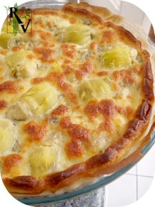 Tarte à l'aubergine, Coeurs d'artichauts & Mozzarella