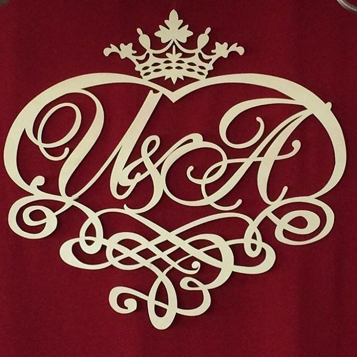 Эта королевская монограмма была сделана для наших дорогих молодожёнов  #монограмма #свадьба