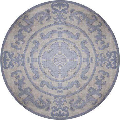 Круглый ковер светло-розового оттенка Pompadour Blue Rond #carpets #rug #ковер #designer #interior #marqis