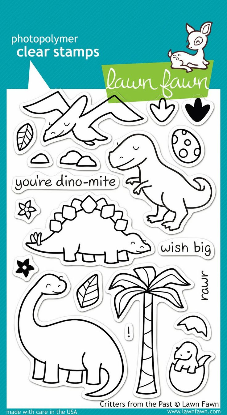 New from Lawn Fawn. New for CHA-W 2014. They will have 12 new stamp sets and 15 dies. Critters from the Past.