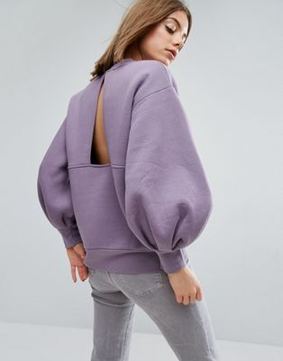 www.wannabesuburbanrockstar.com ASOS WHITE Balloon Sleeve Sweater