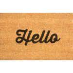 Vivaldi PVC Backed Coir Floor Mat - Hello