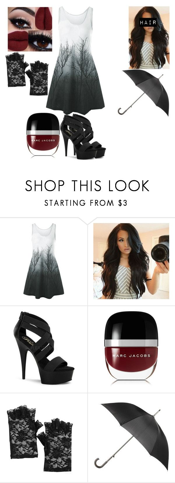 """""""Untitled #1092"""" by nerdynerdy on Polyvore featuring Pleaser, Marc Jacobs and Totes"""