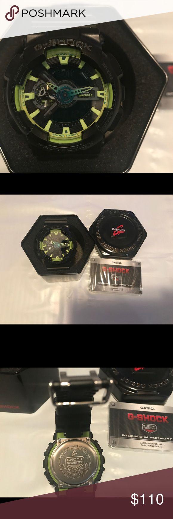 Casio G-Shock watch Brand New G-Shock watch  100% authentic  Black band , green trim and blue hands G-Shock Accessories Watches