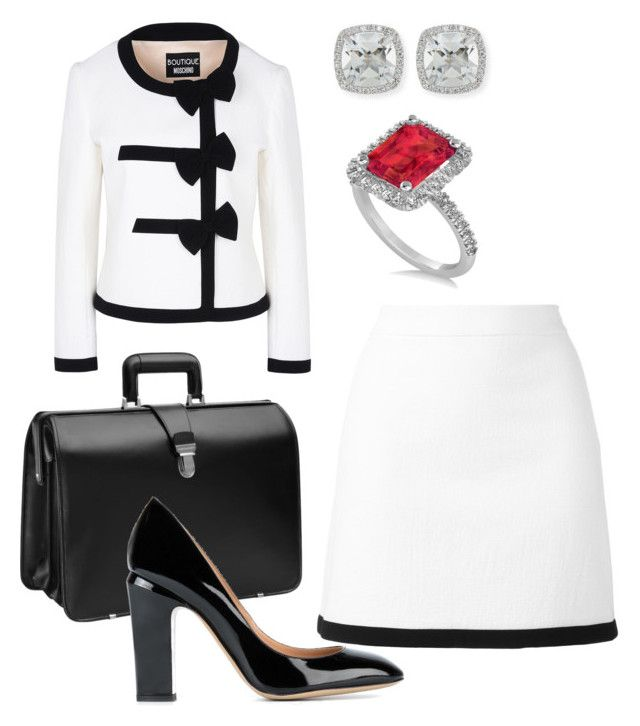 """""""Lawyer 4"""" by distressqn on Polyvore featuring Boutique Moschino, Johnston & Murphy, Valentino, Allurez and Frederic Sage"""