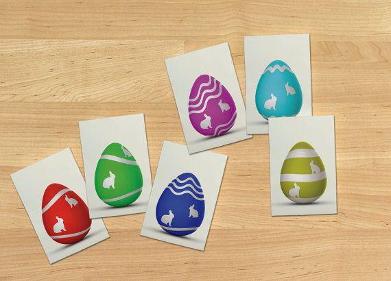 Easter eggs memory game flash cards printable by OrangeKiteLabs