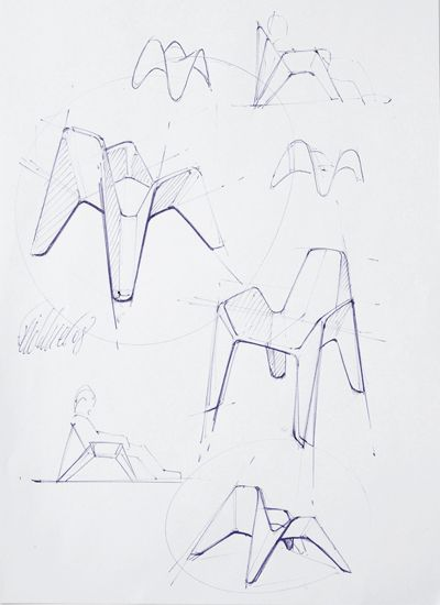 Pixel Chair #id #industrial #design #product #sketch