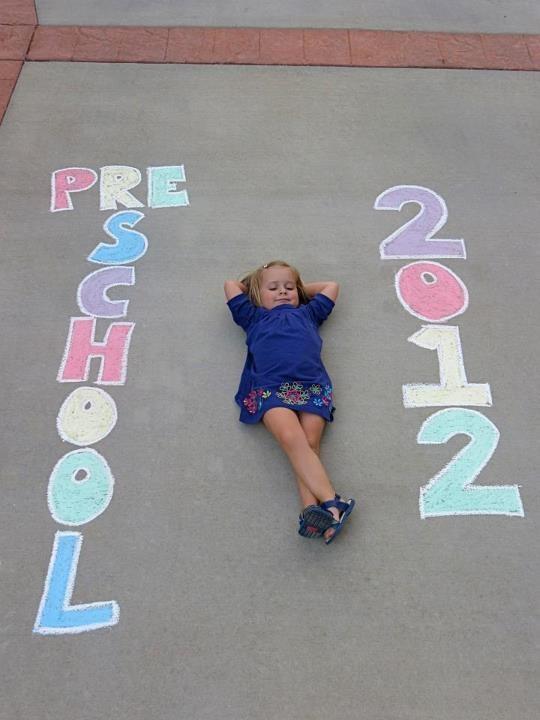 preschool photo... or mile-stone photo idea
