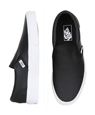 CLASSIC SLIP-ON PERFORATED LEATHER BLACK