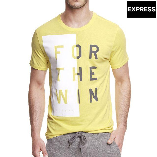 EXPRESS エクスプレス メンズ半袖Tシャツ GRAPHIC TEE グラフィックTシャツ CHARGER YELLOW チャージャーイエロー 黄色 XS