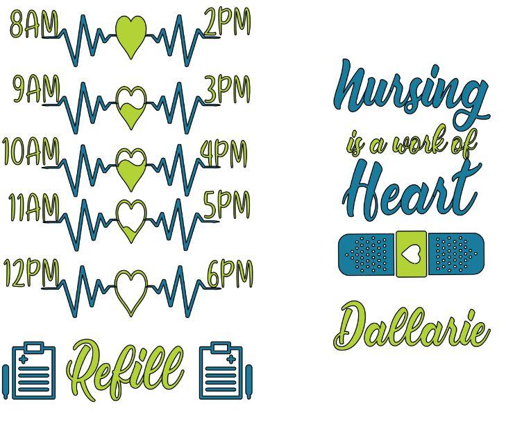 Download FREE Nursing SVG File | Water bottle free, Nurse