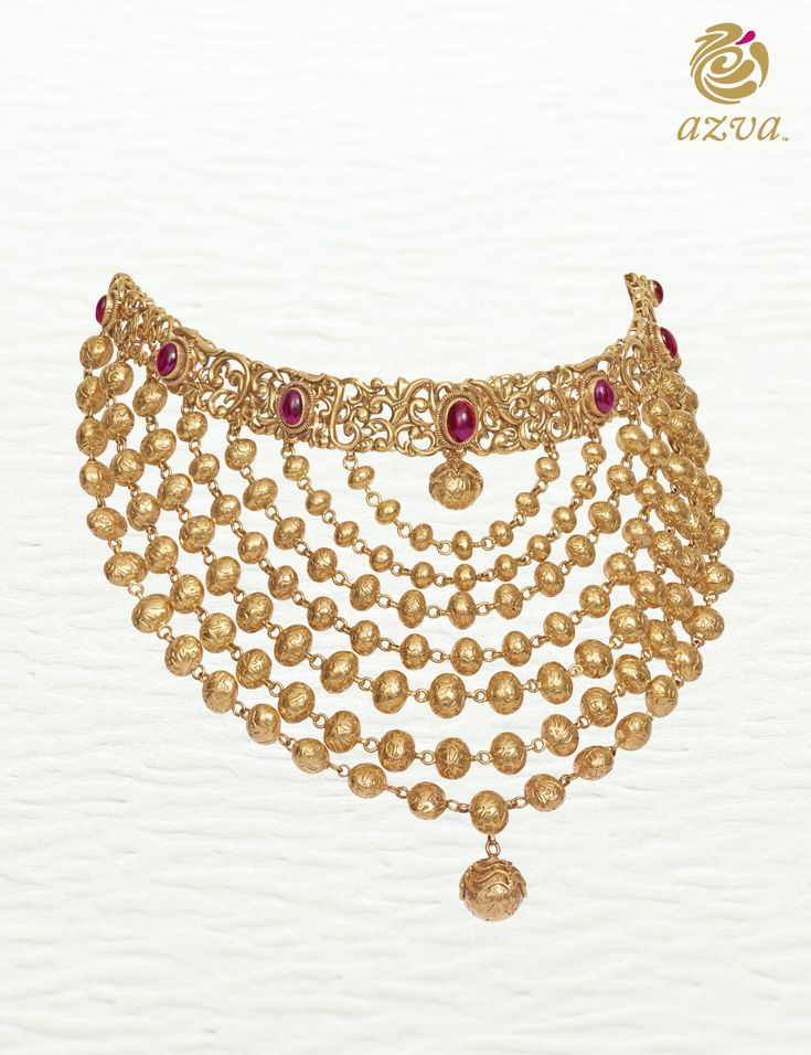 Azva gold necklace. Modern bridal jewellery. #Goldjewellery #luxury #style
