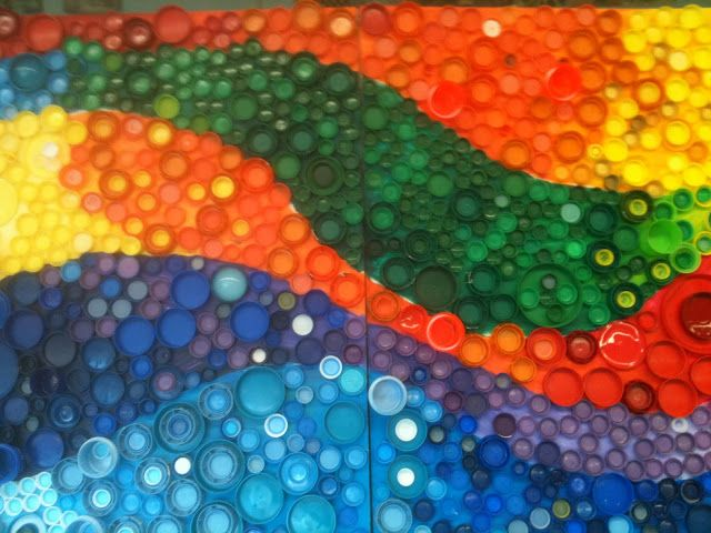 Nancy's Art Fancies: Bottle Cap Murals | Art Classroom ...