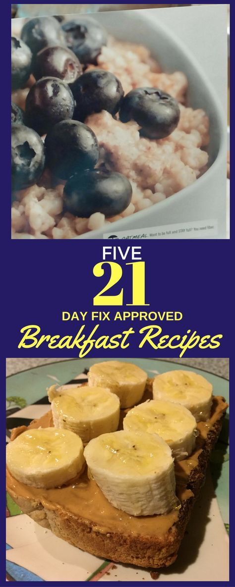 Get FIVE healthy breakfast recipes - All 21 Day Fix Approved!  Need help with your meal planning?  This is a good place to start!  Get your 5 day breakfast meal plan here! You can also learn how I lost 25 pounds using the 21 Day Fix program - I share all my tips and tricks!