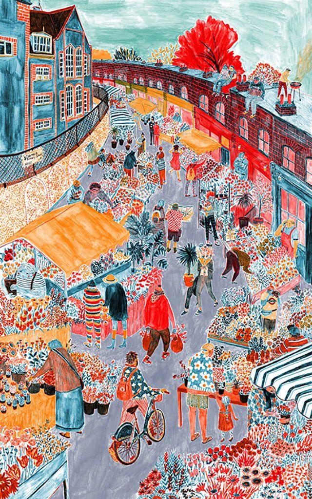 """Columbia Road Flower Market"" by Mouni Feddag"