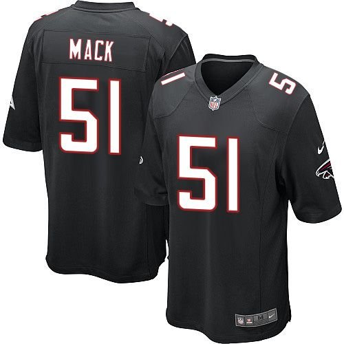 Men's Nike Atlanta Falcons #51 Alex Mack Game Black Alternate NFL Jersey