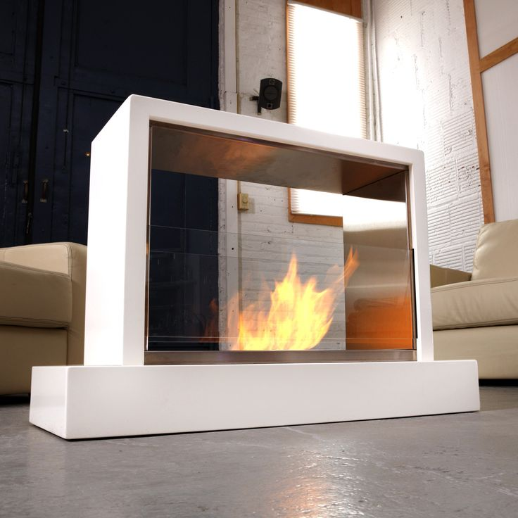 17 best images about freestanding fireplaces on pinterest for Indoor and outdoor fireplace