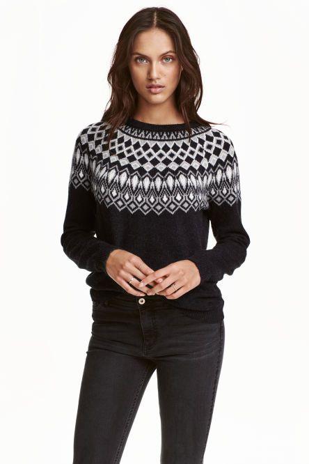 Pulover tricotat jacard