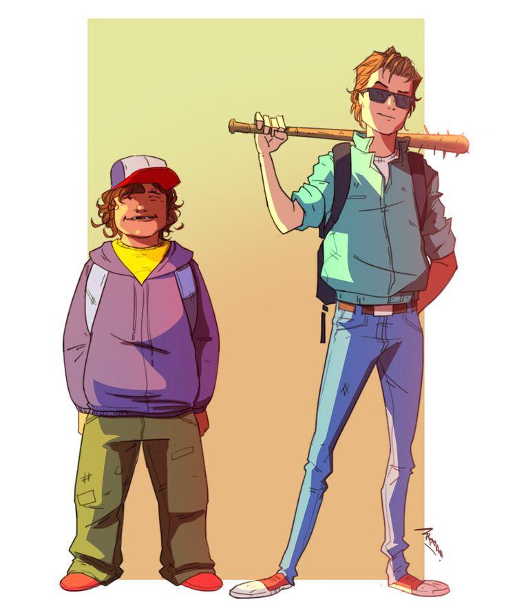 Stranger Things -  Steve and Dustin by TheBabman.deviantart.com on @DeviantArt