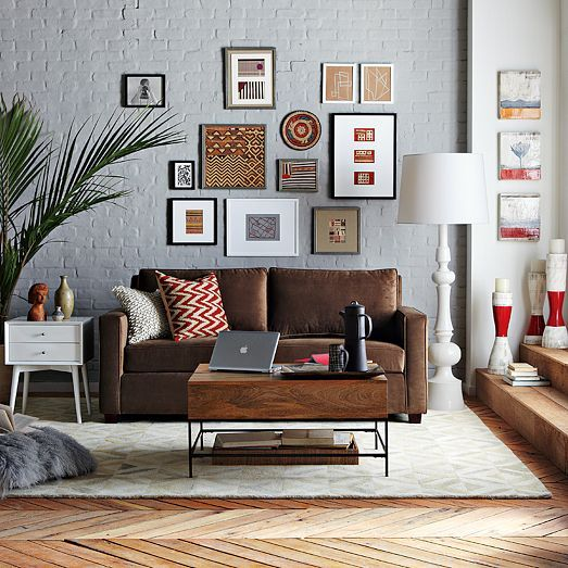 amusing living room west elm decorate shiny | 32 best Decorating Around a Brown Sofa images on Pinterest ...