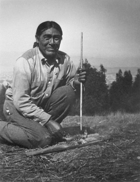 "A 1914 photo of Ishi, the last native North American to live completely outside of modern Western society. In 1911, with no surviving family members, he emerged from ""the wild"" near Oroville, California. He was the last member of the Yahi, themselves the last surviving group of the Yana people. He died in 1916 of tuberculosis. Ishi simply means ""man"" in the Yana language; when asked his name, Ishi responded: ""I have none, because there were no people to name me."" He died only a few years…"