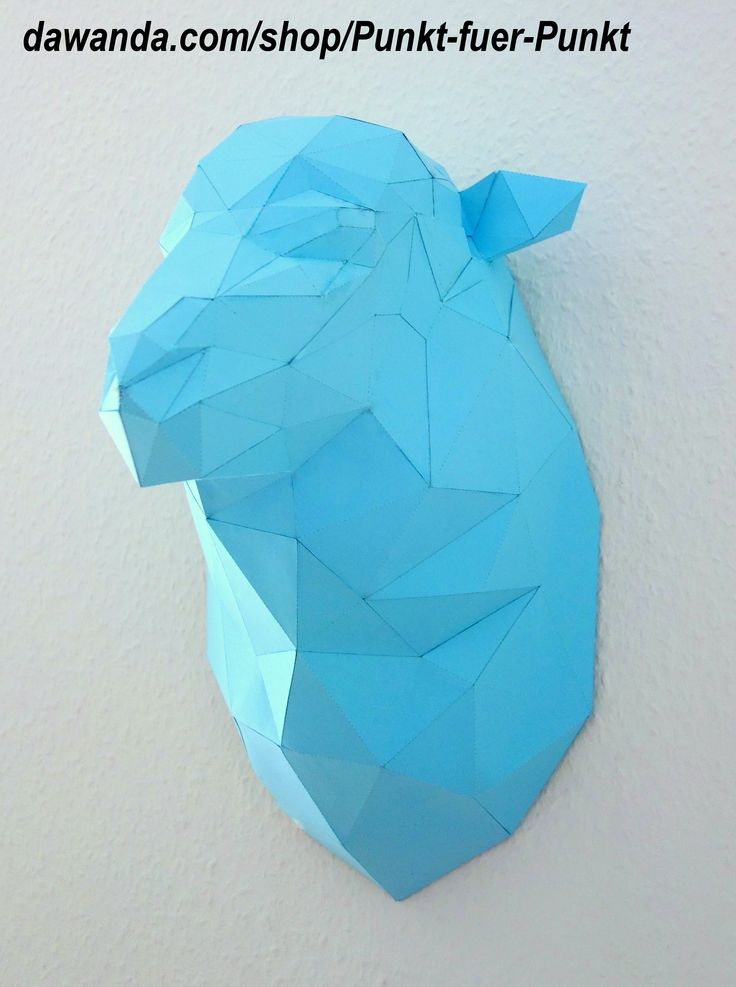 sheep DIY do it yourself papercraft papertrophy origami wallart design home