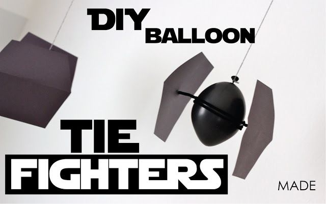 Diy tie fighters from balloons by MADE - for a Star Wars party