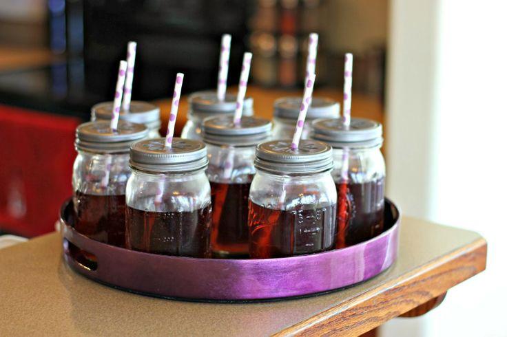 Purple Birthday Party Drinks