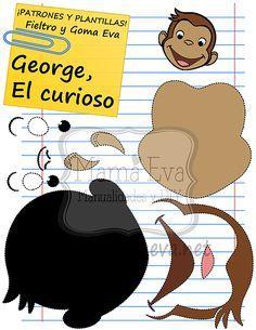 Descarga gratis nuestras plantillas para goma eva y fieltro de tus personajes de dibujos animados actuales favoritos: George el Curioso...                                                                                                                                                                                 Más