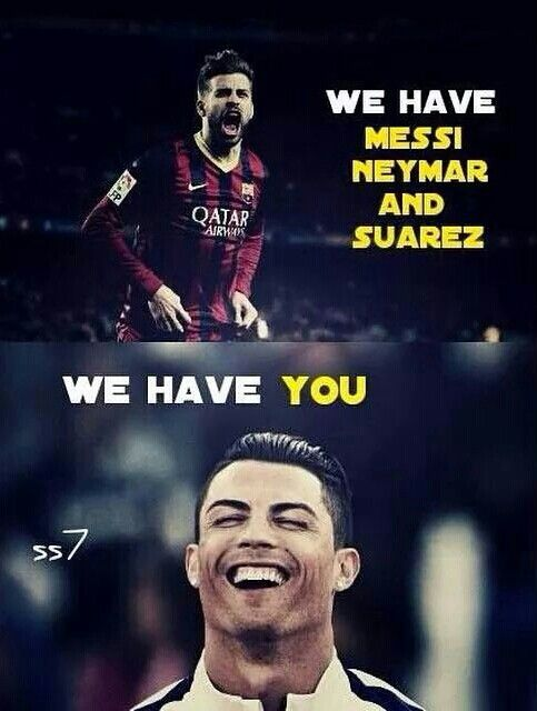 Haha! Real vs barca! 3-1 for real! First elclasico of the season! 2014-2015!