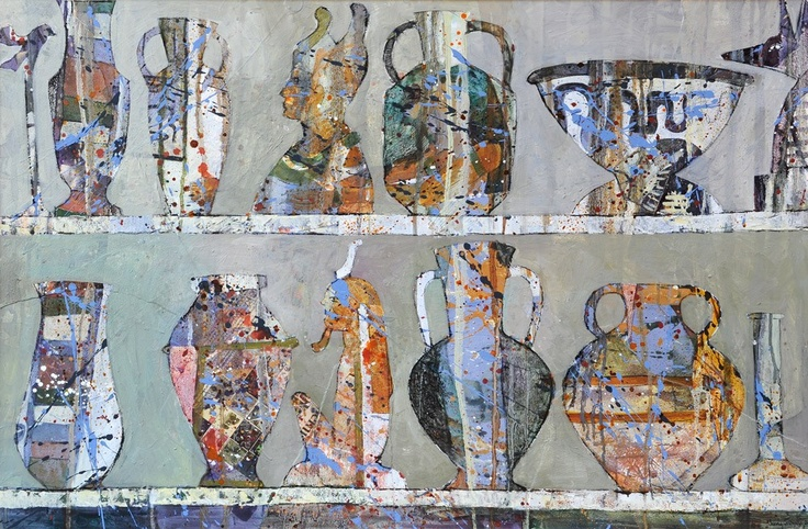 Jenny Grevatte - Egyptian Treasures  http://www.goldmarkart.com/all-art/all-artists/jenny-grevatte/egyptian-treasures.html