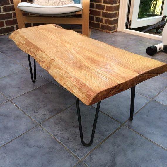 Cofee Table Industrial Style Material Kayu Suar Kaki Meja Besi Beton Dimensi Custom Fini Wood Slab Table Coffee Table Live Edge Coffee Table
