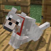 Minecraft Tamed Wolf - sitting