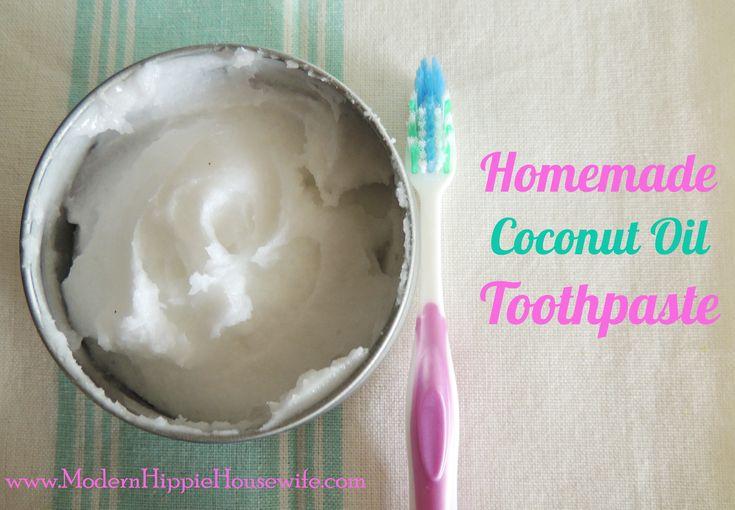 Homemade Coconut Oil Toothpaste Oil pulling alternative