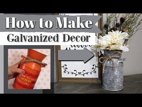 How To Make Galvanized Decor | DIY Greenback Retailer Farmhouse Decor | Krafts by Kate…