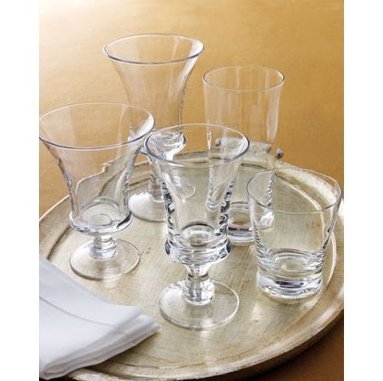 traditional cups and glassware by Horchow