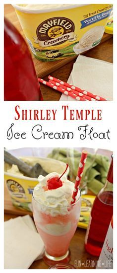 Shirley Temple Ice Cream Float! #ad #MayfieldMoment