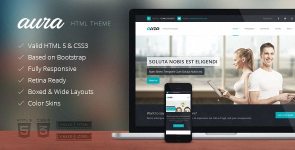Aura - Responsive Multipurpose Template v1.8.7 - Business Corporate