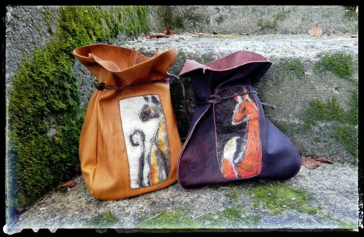 Felt and reindeer leather by Päivi Remes/Kissakansa