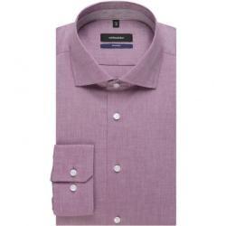 Bügelfreies Struktur Business Hemd in Tailored mit Kentkragen SeidenstickerSeidensticker