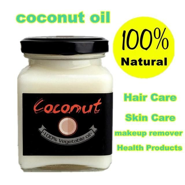 [Visit to Buy] Natural cold pressed virgin coconut oil Skin care hair care makeup remover protect teeth essential oil Natural Health Products #Advertisement