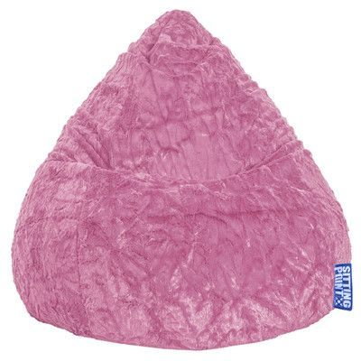 SittingPoint Fluffy Bean Bag Chair Upholstery Pink