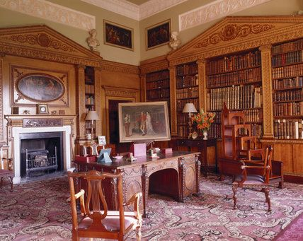 Chippendale library at Nostell Priory in England, uncredited