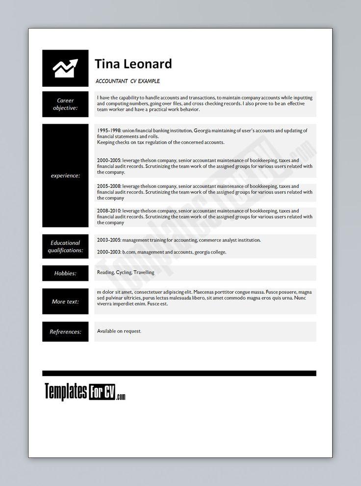 Free Curriculum Vitae Resume Template - http\/\/wwwresumecareer - audit templates free